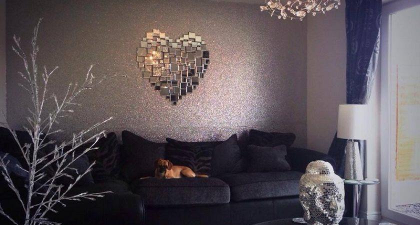 interior wall paint glitter photo - 9