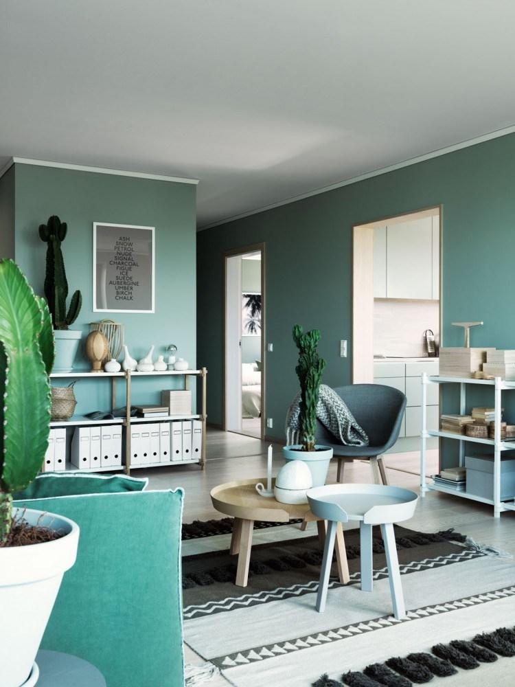 interior wall paint green photo - 1