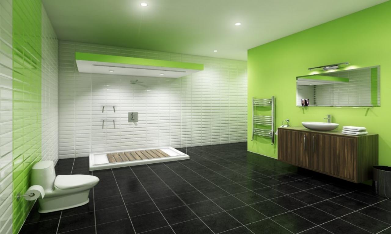 interior wall paint green photo - 10