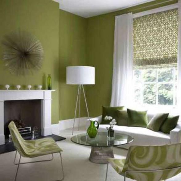 interior wall paint green photo - 2