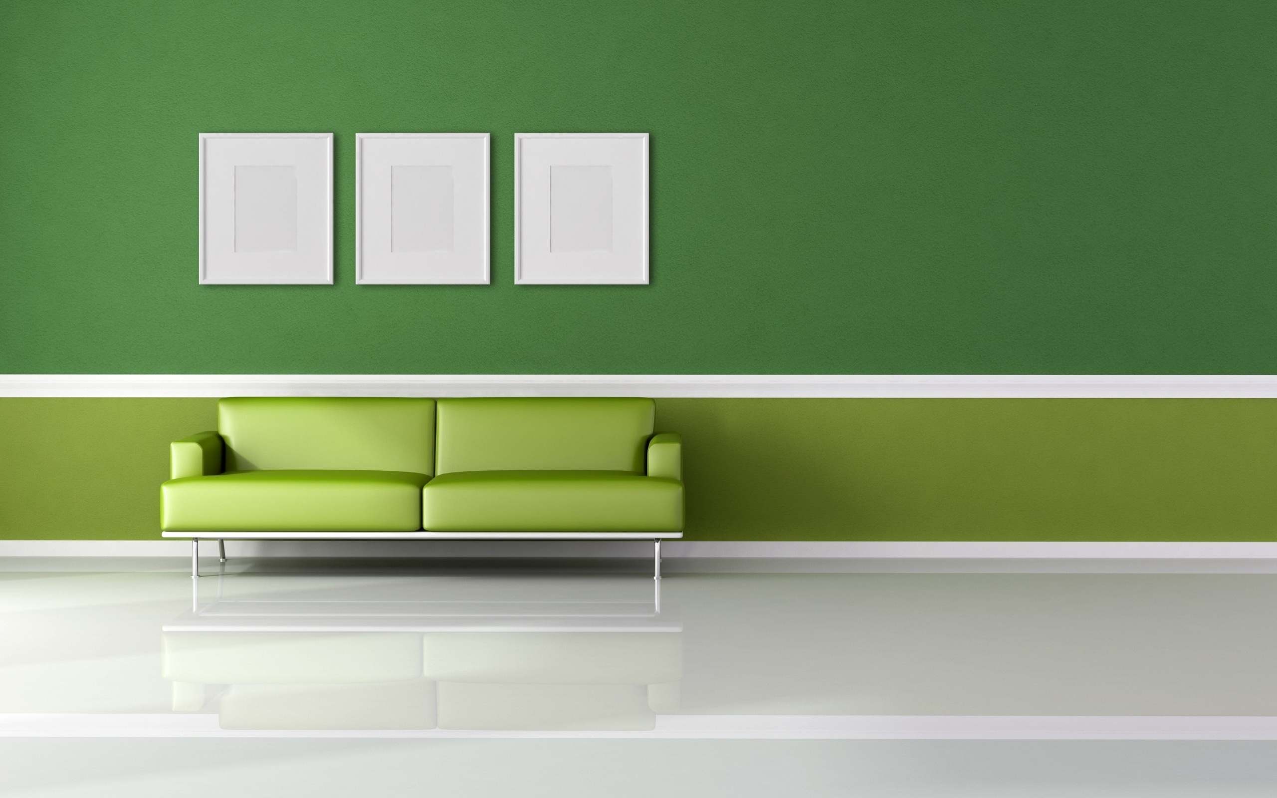 interior wall paint green photo - 3