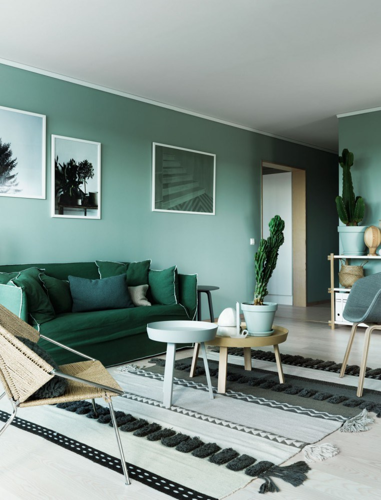 interior wall paint green photo - 6