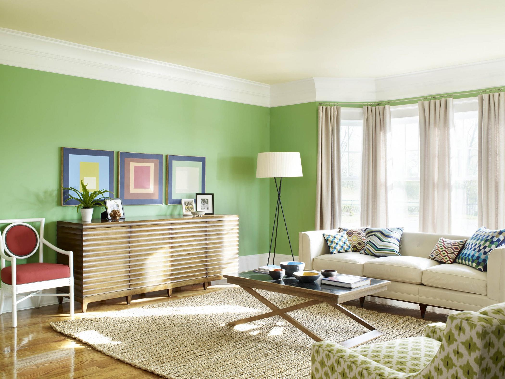 interior wall paint green photo - 9