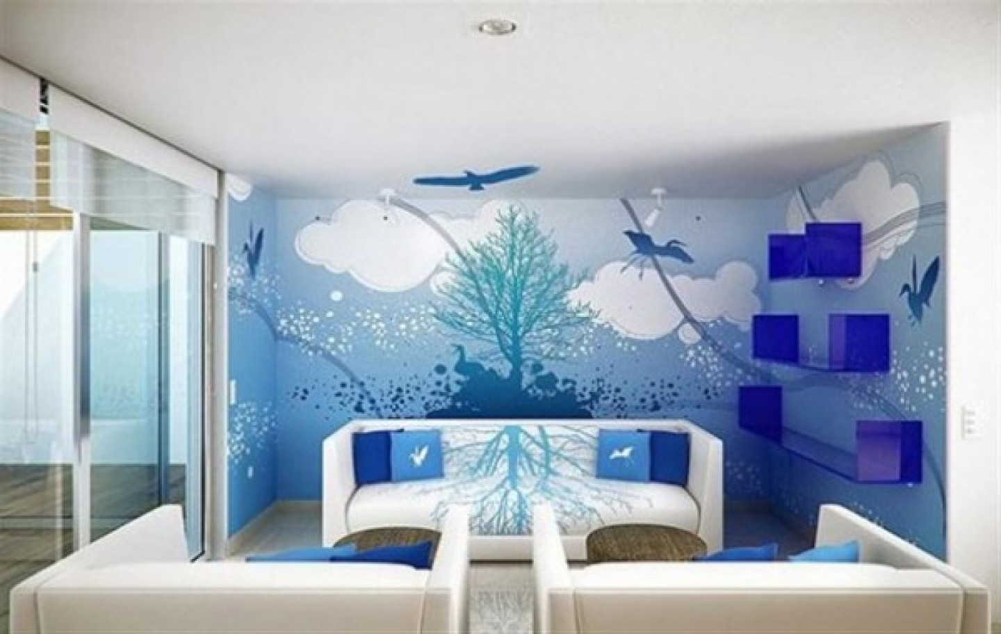 interior wall painting design photos photo - 9