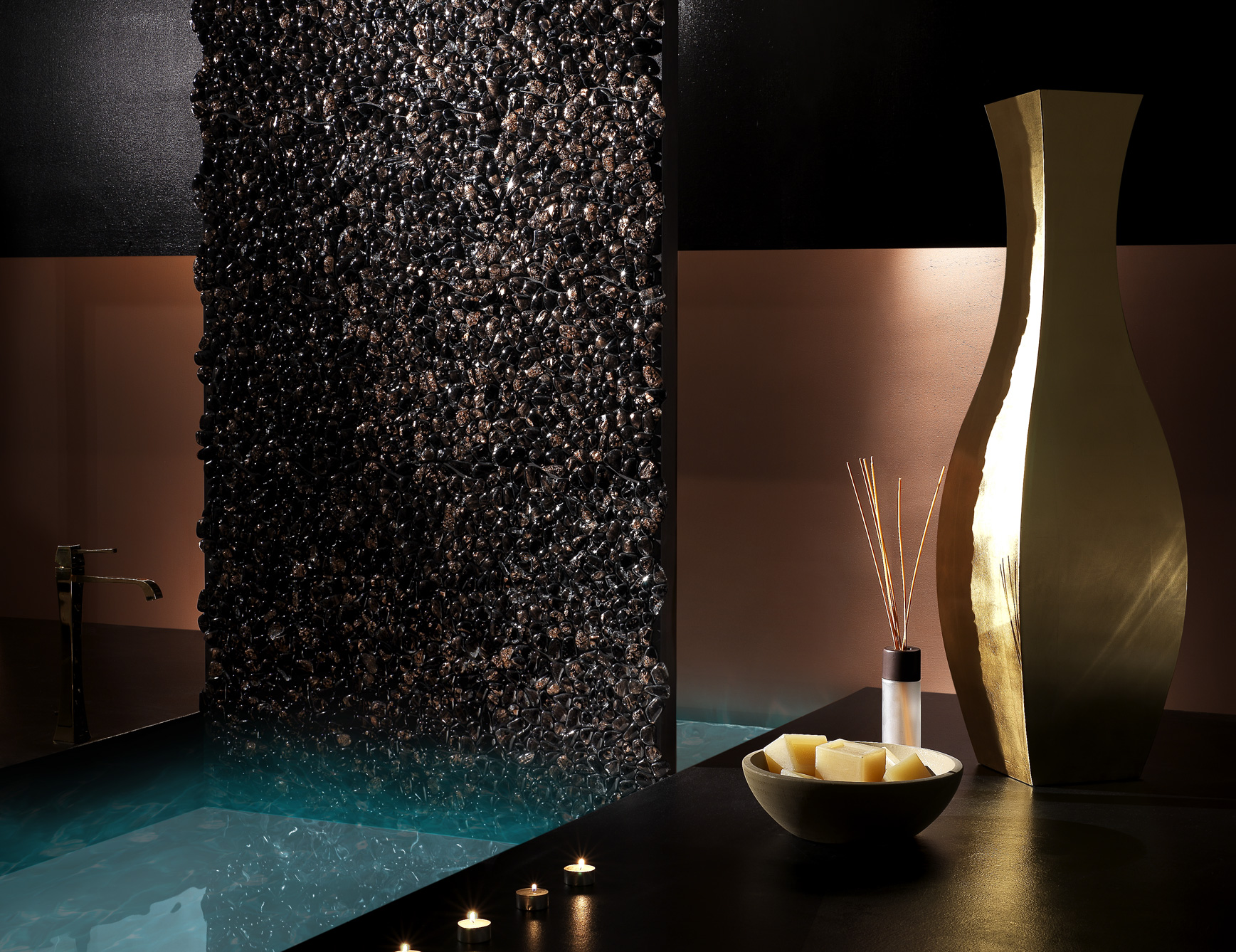 italian glass bathroom tile photo - 5