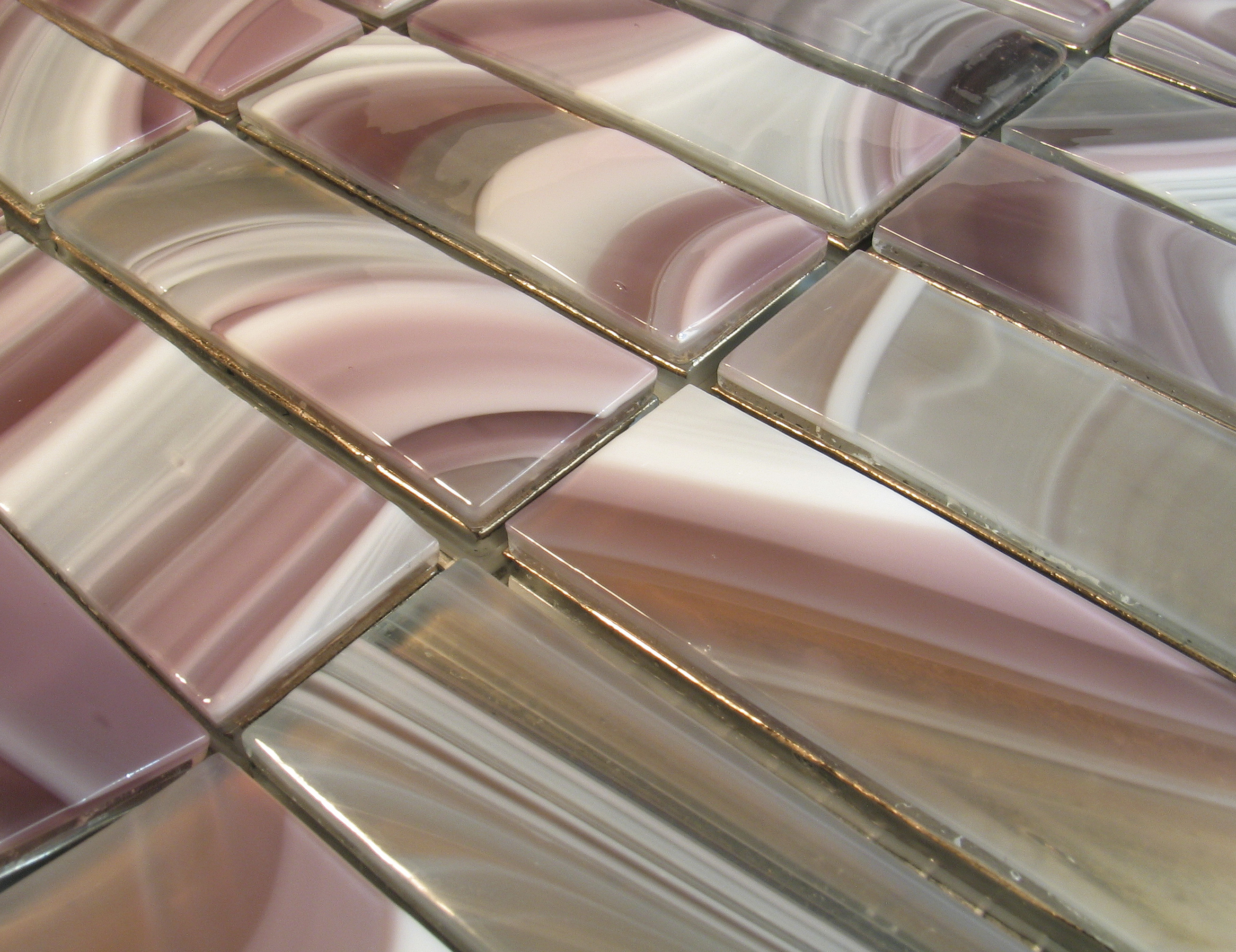 italian glass bathroom tile photo - 9