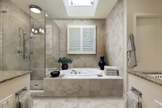 italian porcelain tile bathroom photo - 4