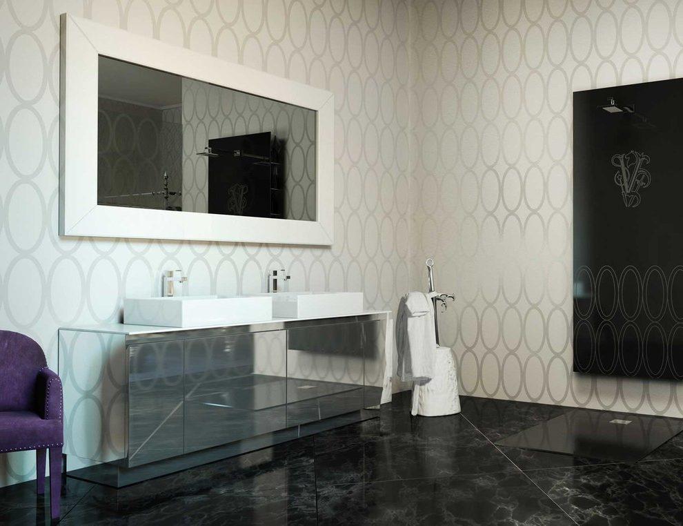 italian porcelain tile bathroom photo - 8
