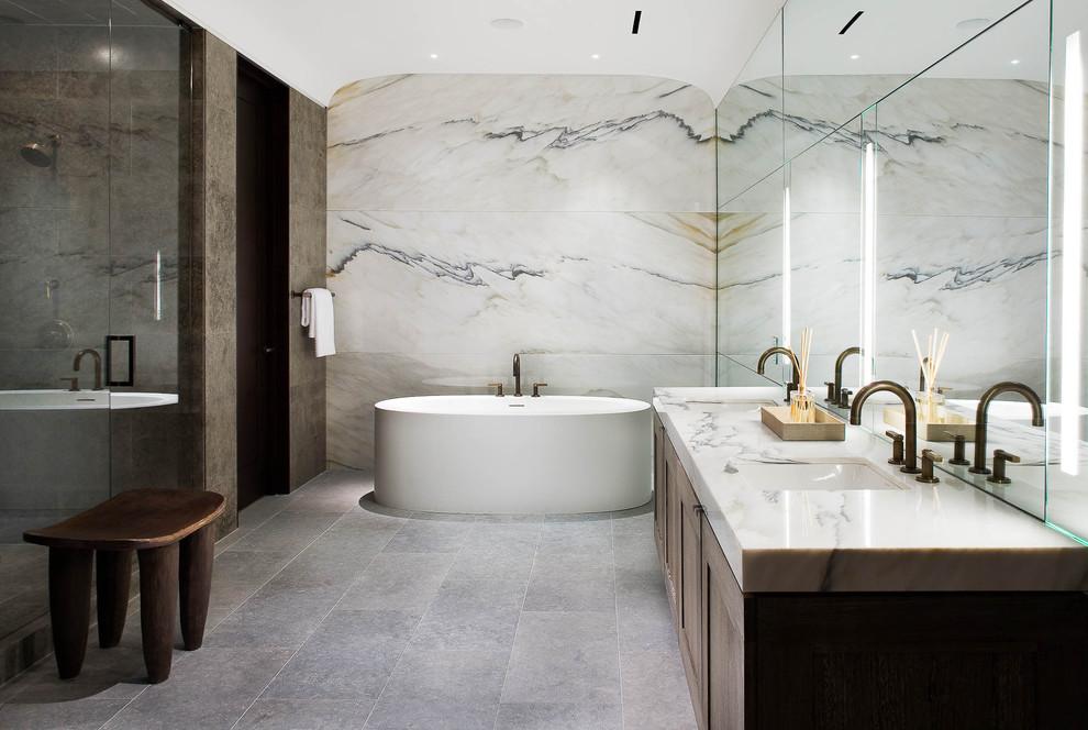 italian tile bathroom photo - 10