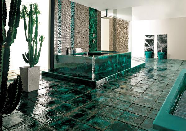 italian tile bathroom photo - 8
