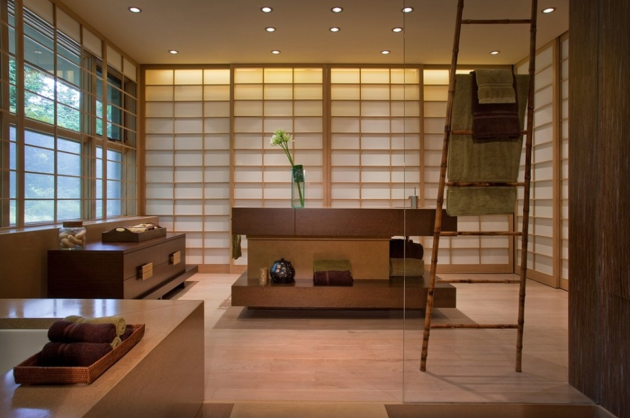 japanese bath house interior photo - 10