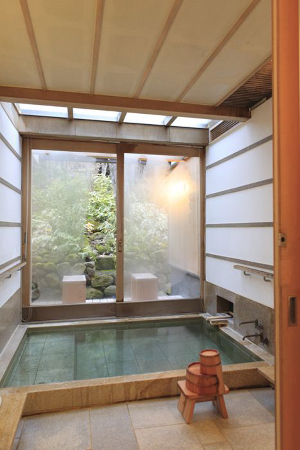 japanese bath house interior photo - 7