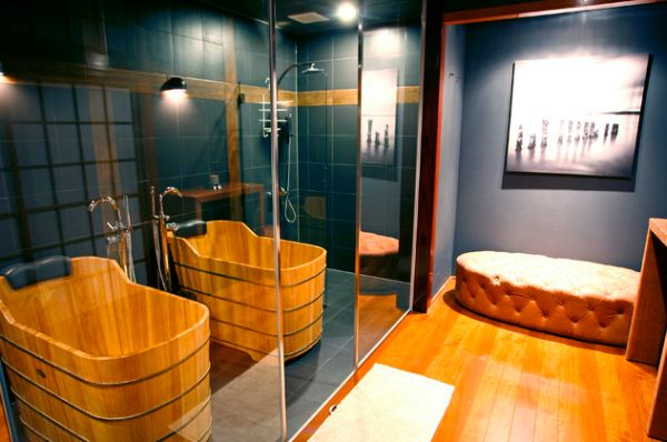 japanese bath house interior photo - 8