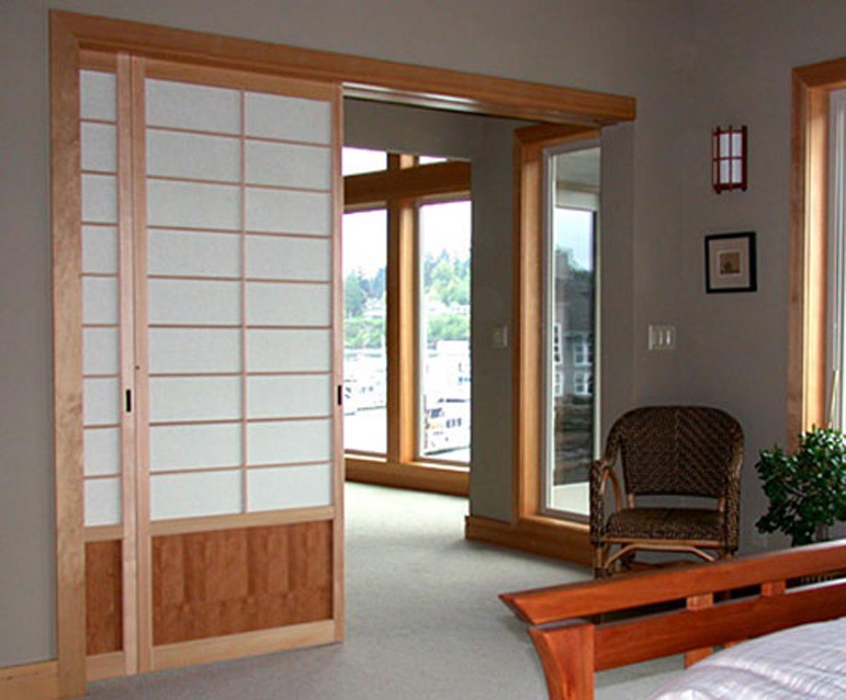 japanese shoji screens for sliding glass doors photo - 4