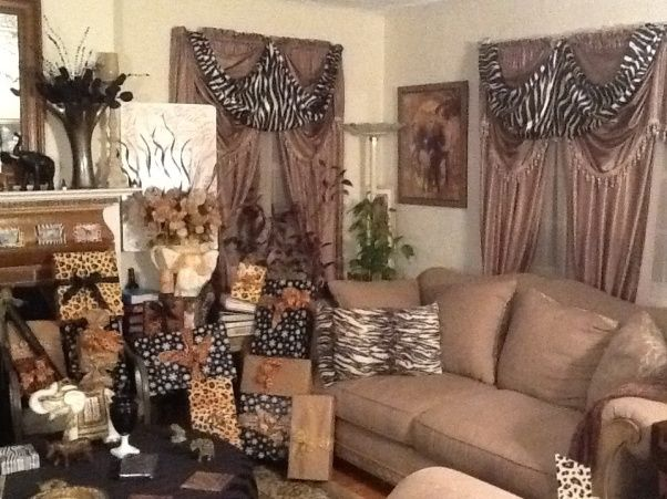 jungle living room designs photo - 9