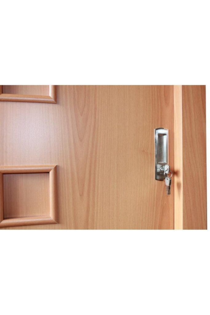keyed interior sliding door lock photo - 2