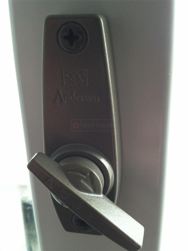 keyed interior sliding door lock photo - 3