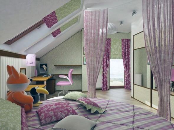 kids attic bedroom design ideas photo - 1