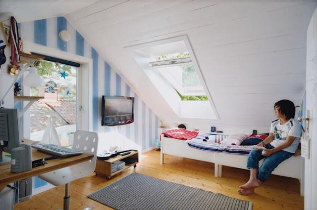 kids attic bedroom design ideas photo - 10