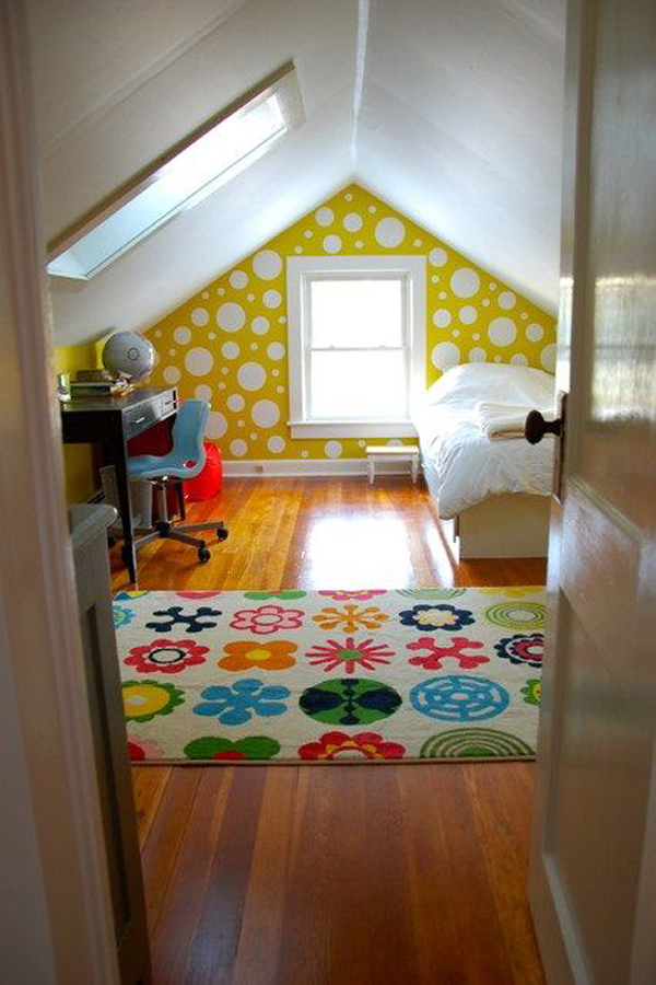 Charming Kids Attic Bedroom Design Ideas Photo   2