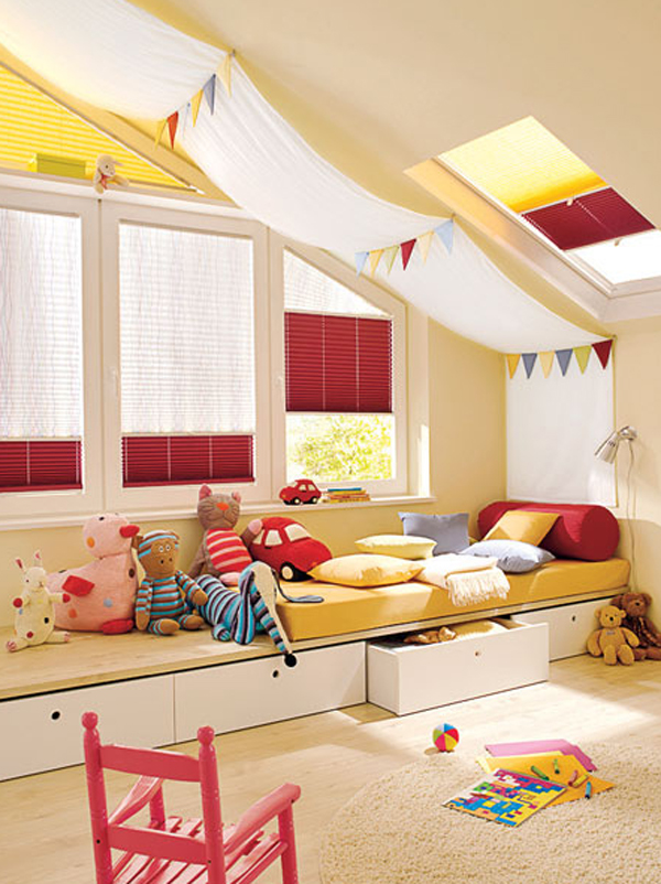 kids attic bedroom design ideas photo - 5