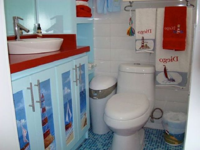 kids beach bathroom ideas photo - 9