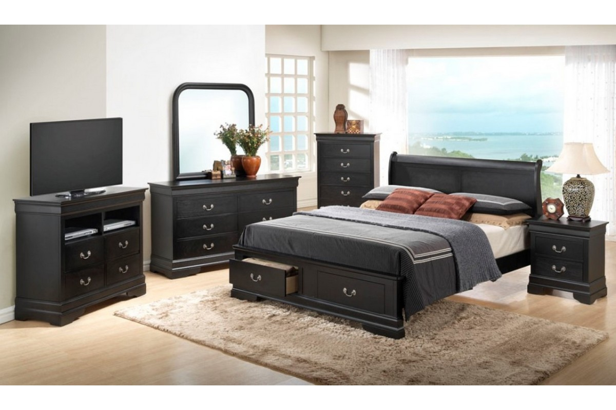 king size black bedroom furniture sets photo - 1