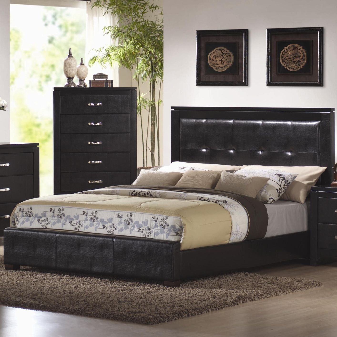 king size black bedroom furniture sets photo - 10