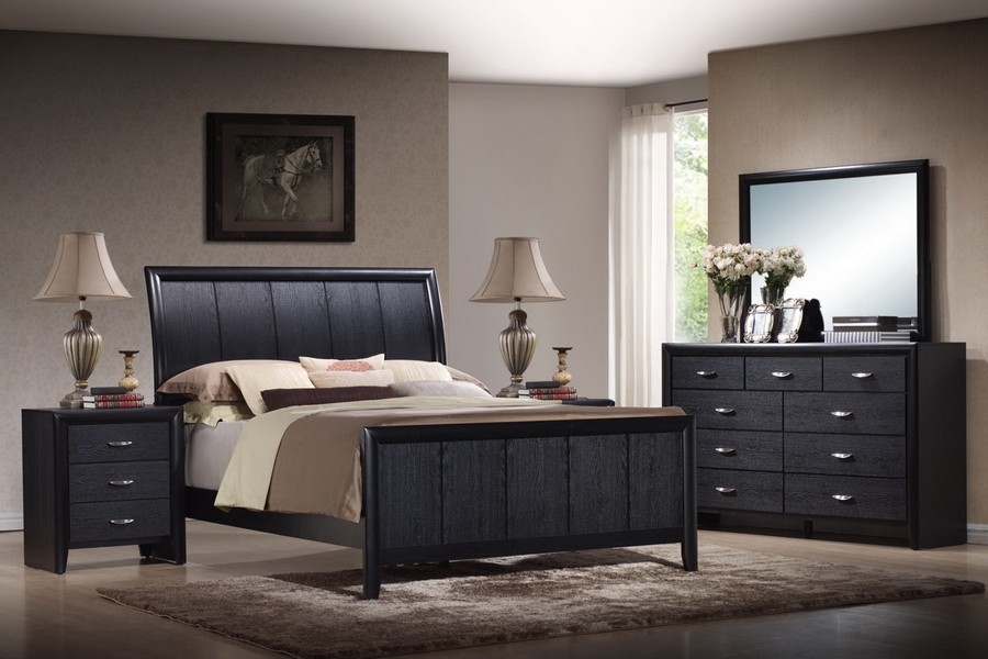 king size black bedroom furniture sets photo - 8