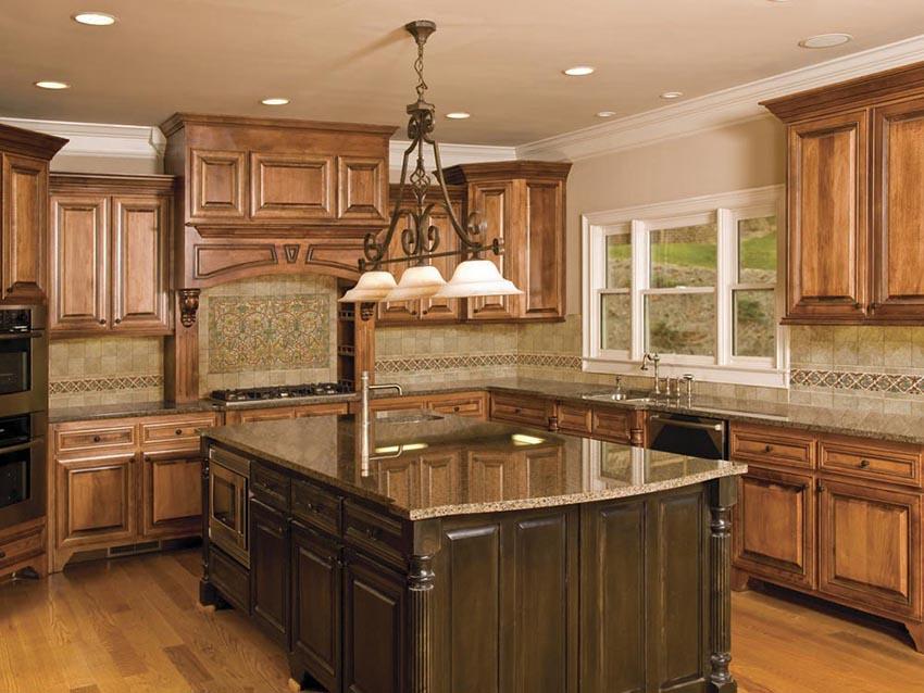 kitchen cabinet and granite ideas photo - 1