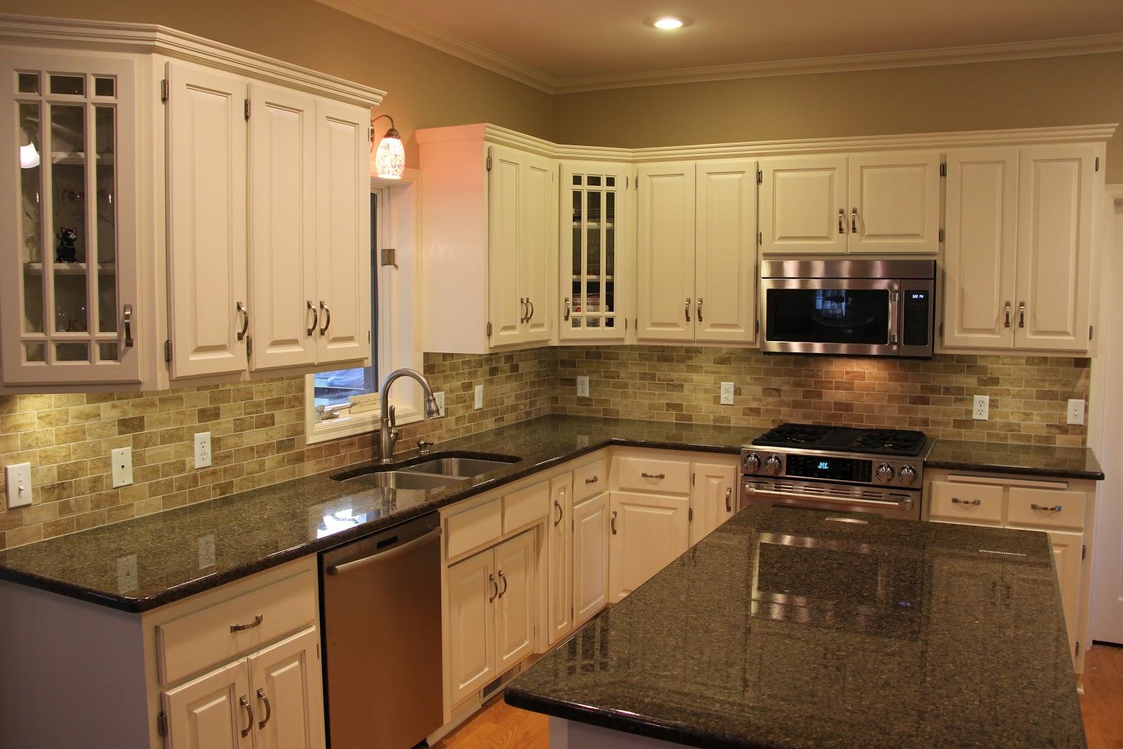kitchen cabinet and granite ideas photo - 3