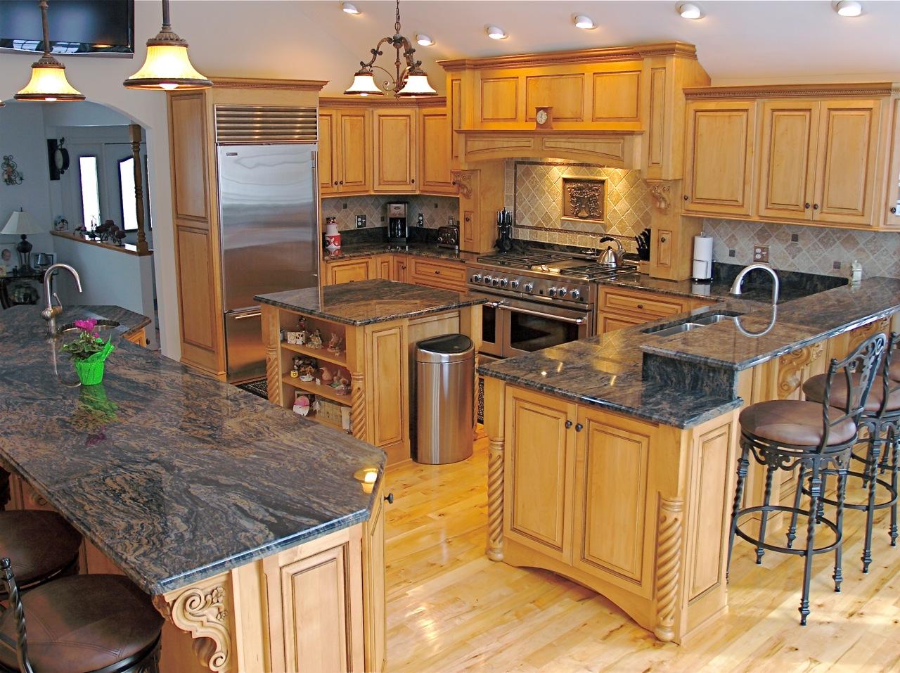 kitchen cabinet and granite ideas photo - 5
