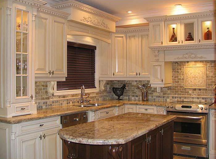 kitchen cabinet and granite ideas photo - 6