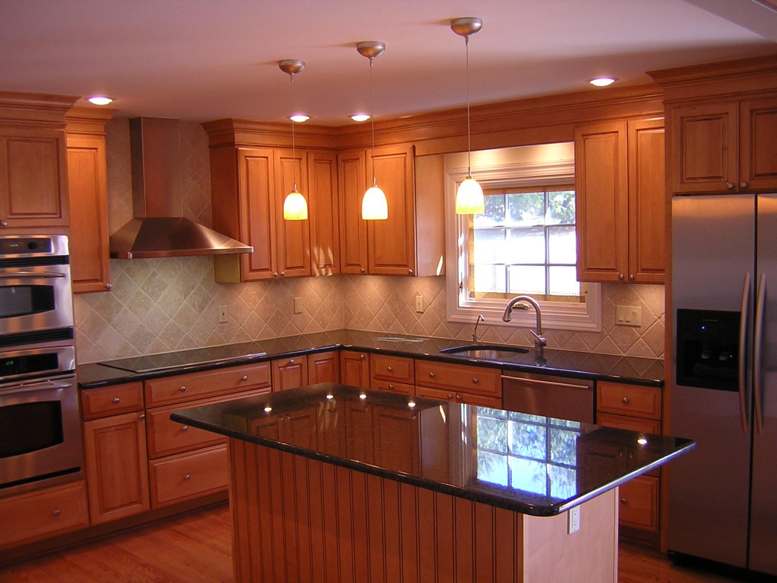 kitchen cabinet and granite ideas photo - 7