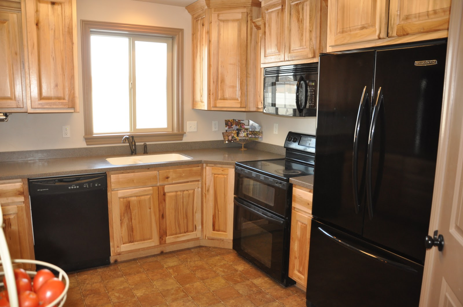 kitchen cabinet color ideas with black appliances photo - 10