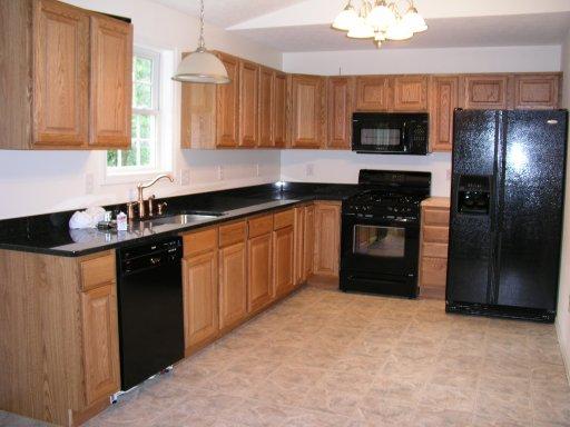 kitchen cabinet color ideas with black appliances photo - 5