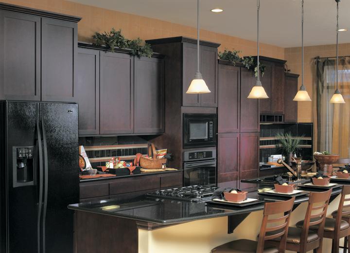 kitchen cabinet color ideas with black appliances photo - 6