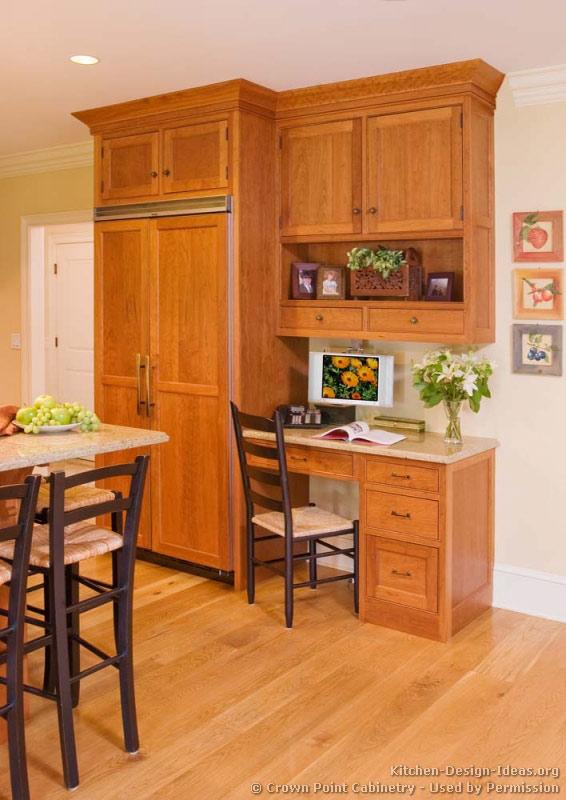 kitchen cabinet desk ideas photo - 1