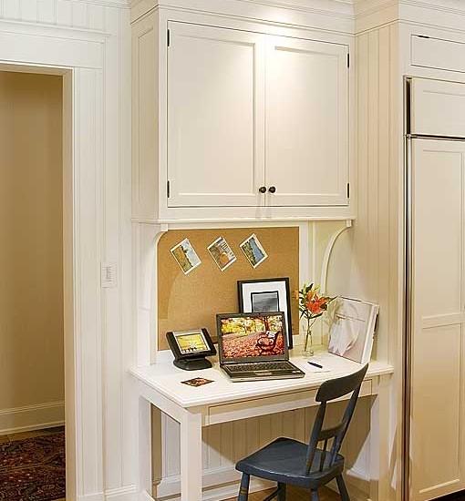 kitchen cabinet desk ideas photo - 10