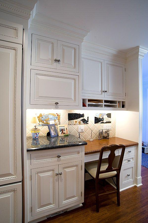 Kitchen cabinet desk ideas | Hawk Haven