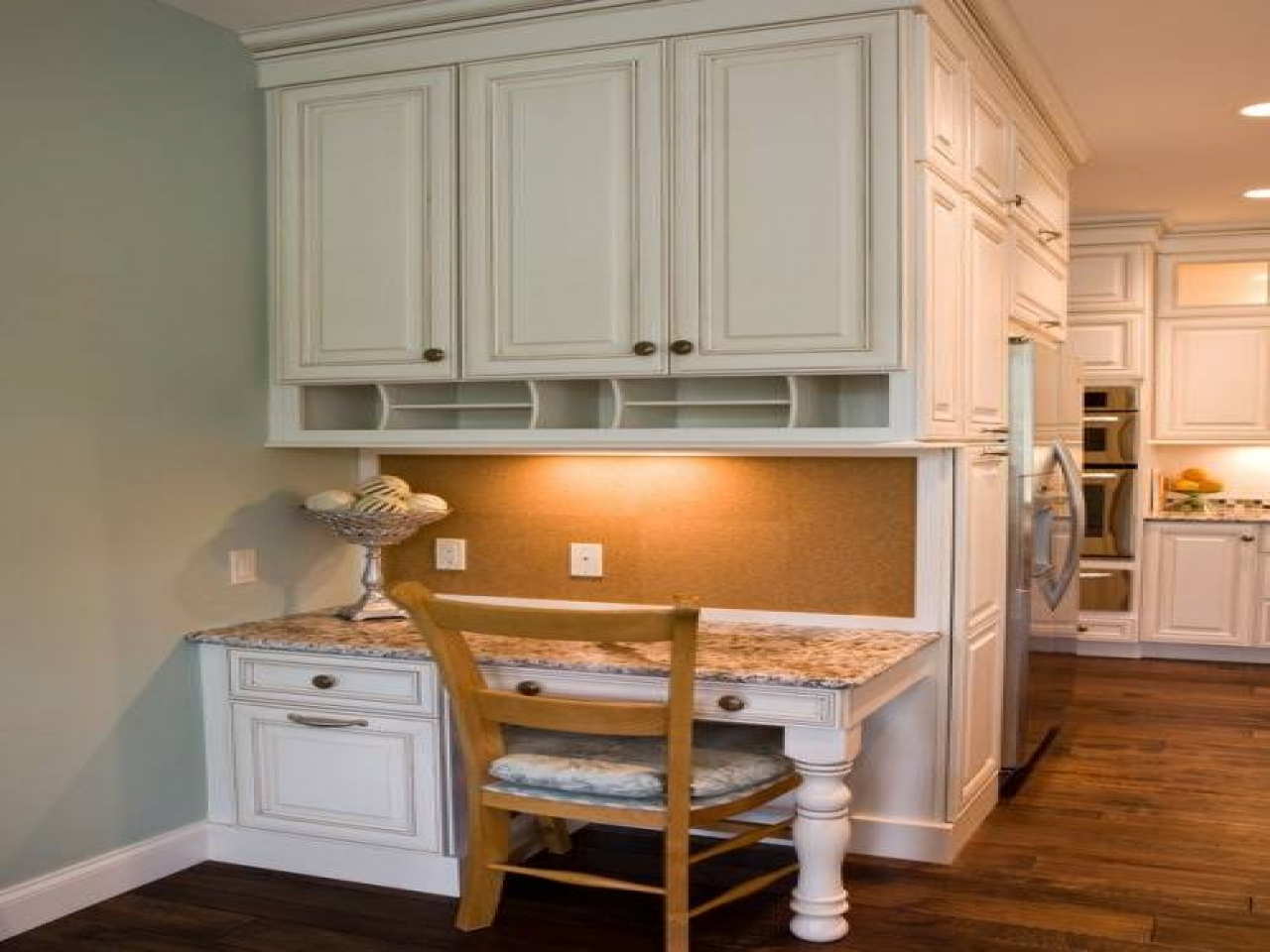 kitchen cabinet desk ideas photo - 3