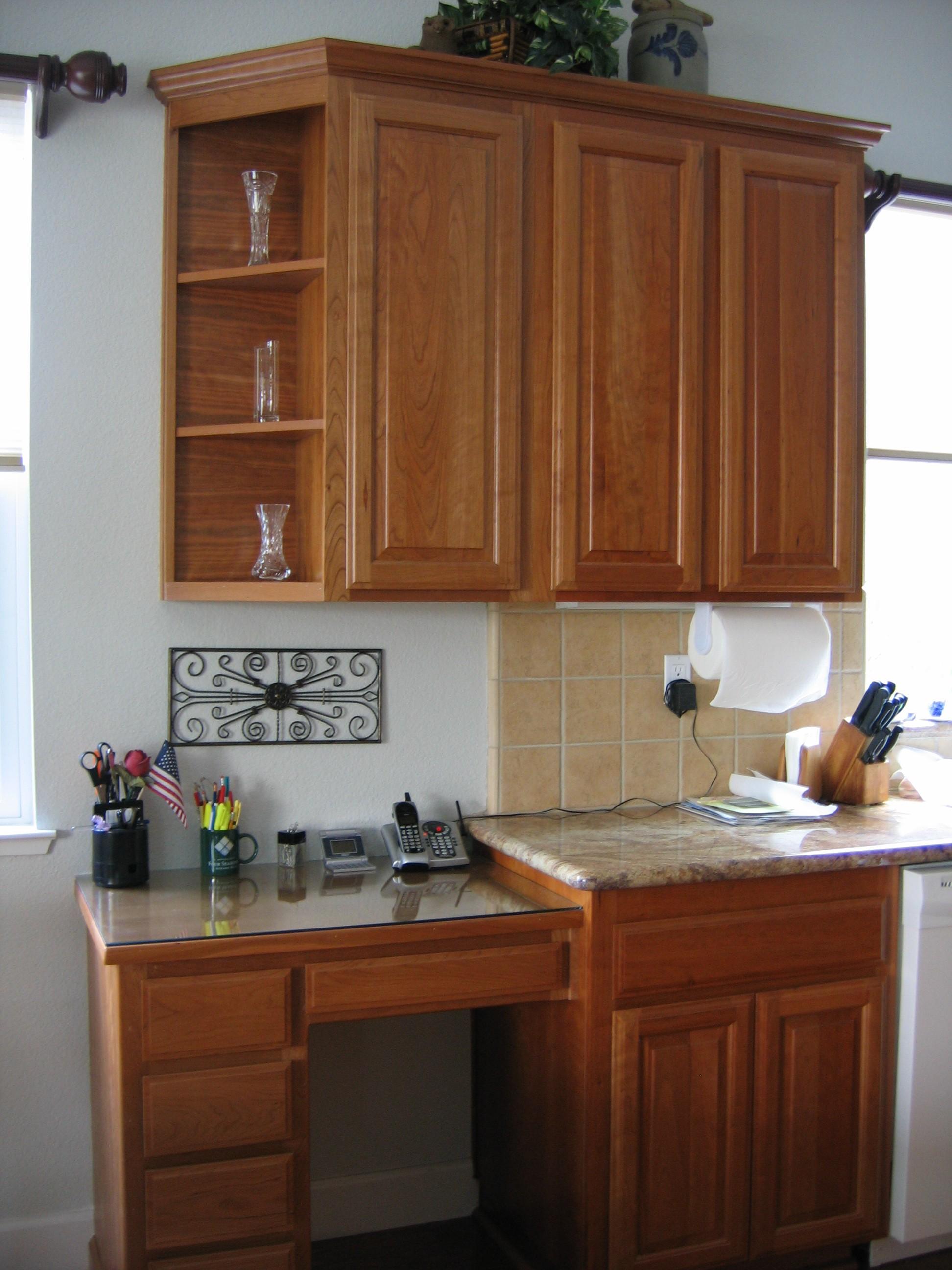 kitchen cabinet desk ideas photo - 4