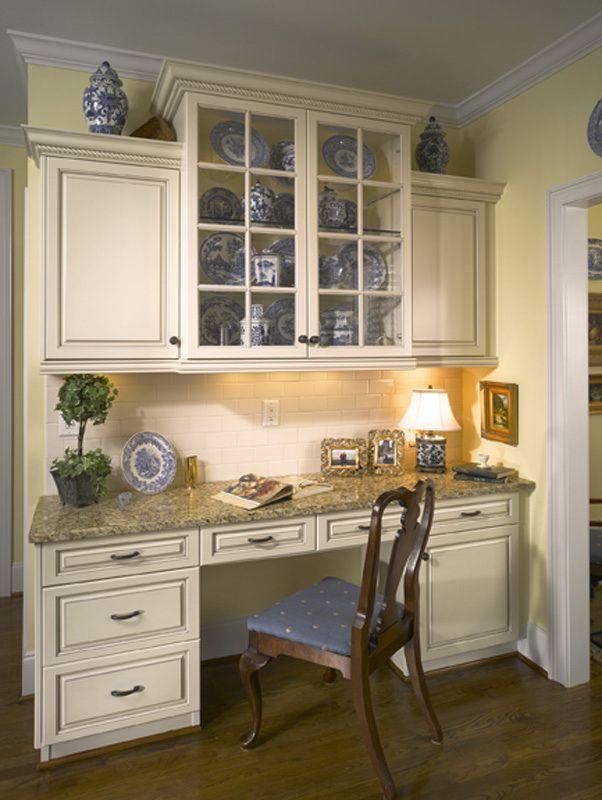 kitchen cabinet desk ideas photo - 7
