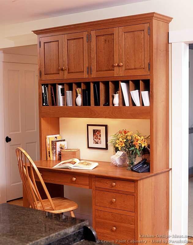 kitchen cabinet desk ideas photo - 9