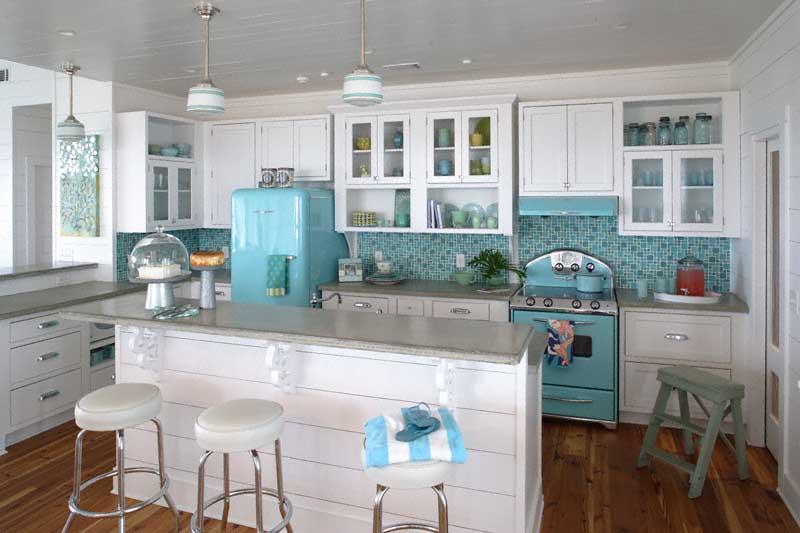 kitchen cabinet ideas beach house photo - 3