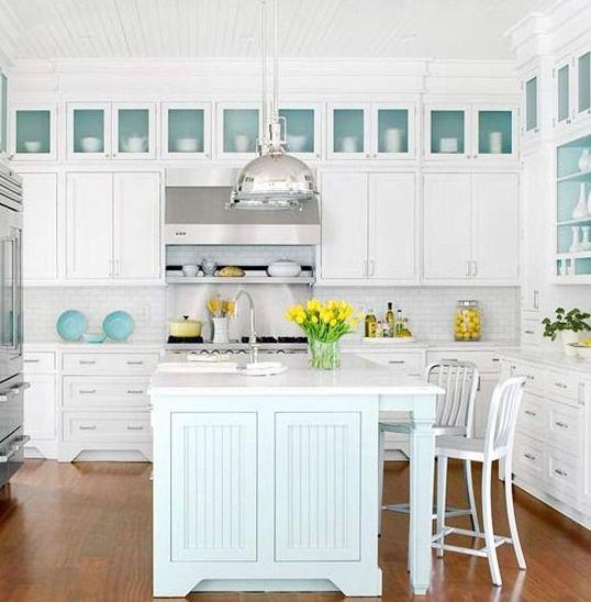 kitchen cabinet ideas beach house photo - 4