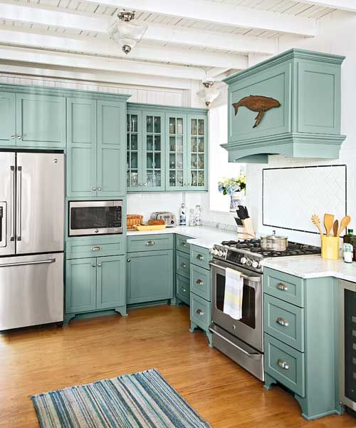 kitchen cabinet ideas beach house photo - 5