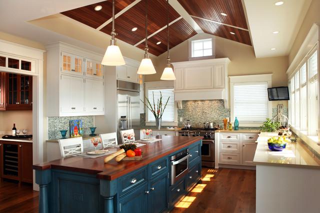 kitchen cabinet ideas beach house photo - 9