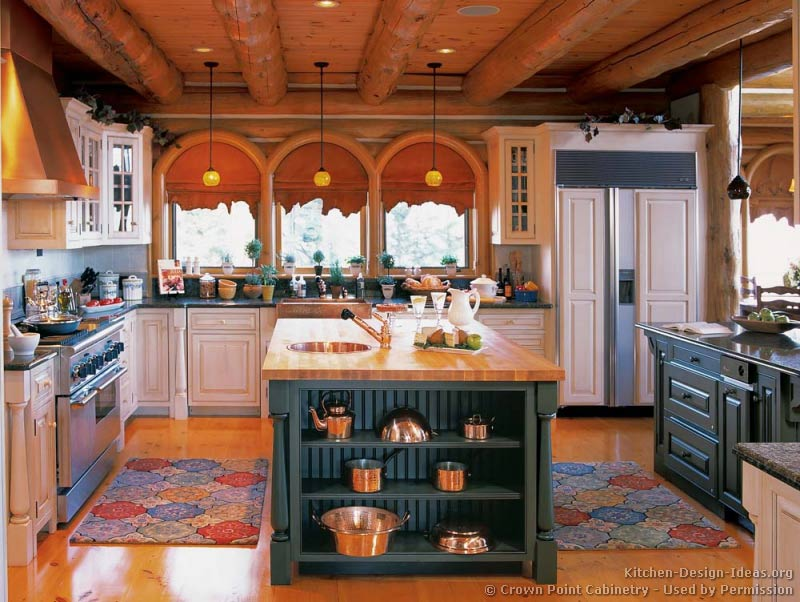 kitchen cabinet ideas for log homes photo - 10