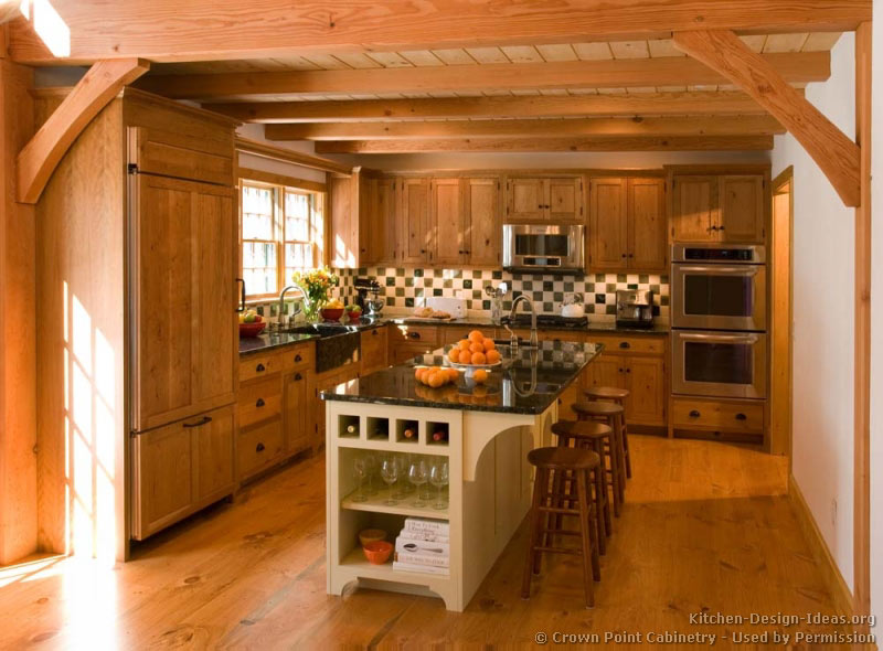 kitchen cabinet ideas for log homes photo - 9